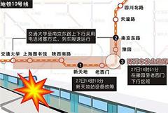 上海地铁10号线追尾事故模拟图