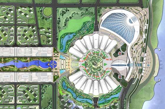 国博中心景观环境总平面图