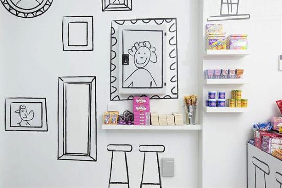 澳大利亚手绘风格装饰的糖果小店
