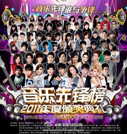 2011年度《音乐先锋榜》今晚在武汉颁奖