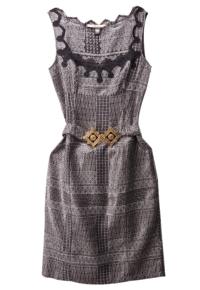 Co11:黑色刺绣连衣裙