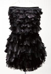 Tara Jarmon:黑色褶皱抹胸裙