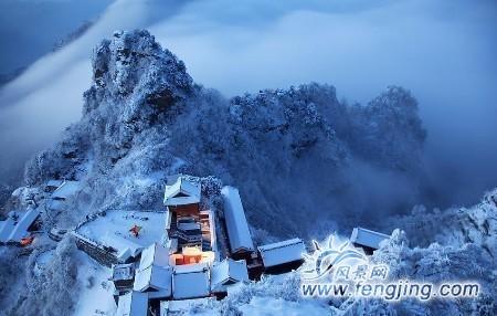 雪后武当山