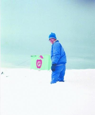 南极越冬考察队员、中科院测量与地球物理研究所研究员郝晓光博士