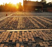 夕阳斜下,余晖铺满古砖的缝隙