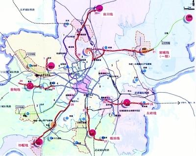 8条连接新城轨道线示意图