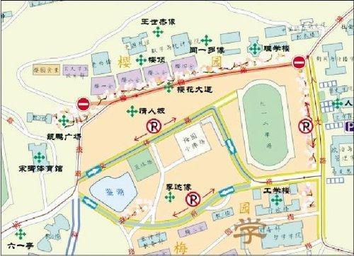 武大学生耗时3月制成武大赏樱图 或将免费发放