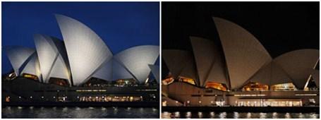 熄灯前后的悉尼