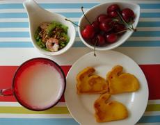 @童心99blog:车厘子爱心早餐