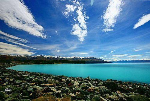 新西兰的碧海蓝天