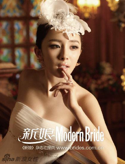 杨幂的新娘妆