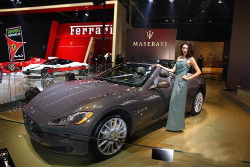 玛莎拉蒂敞篷跑车fendi限量版车展首发
