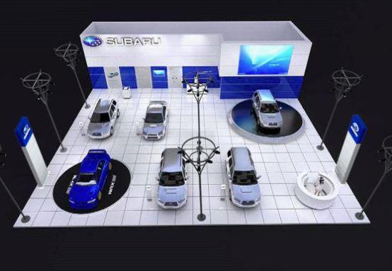 汽车展柜手绘效果图