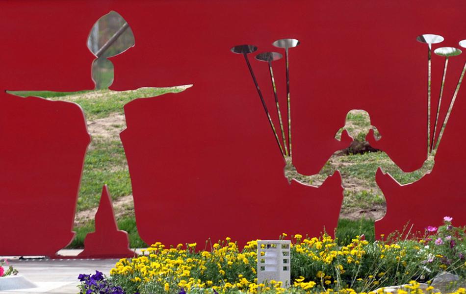园内雕塑剪影