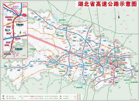 湖北大广南高速公路全长107.1公里,连接线长11.93公里.