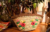 田园花朵编织包