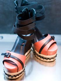 风格高筒凉鞋