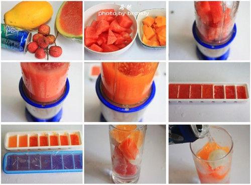 夏日最过瘾的水果饮料3步速成