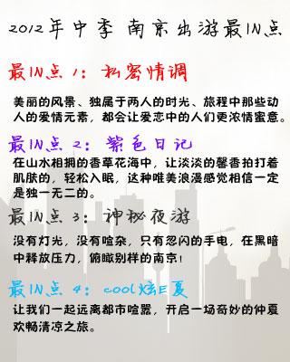 2012年中季 南京出游最IN点