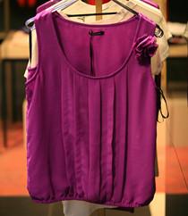 紫色性感上衣