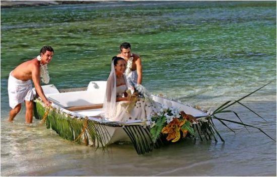 正赶上新娘拍照