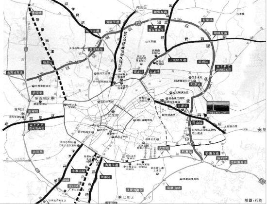 """以武汉为圆心,多条呈放射状的高速公路将武汉与周边城市连接起来—— """"半小时交通圈""""拴紧8颗""""卫星"""""""