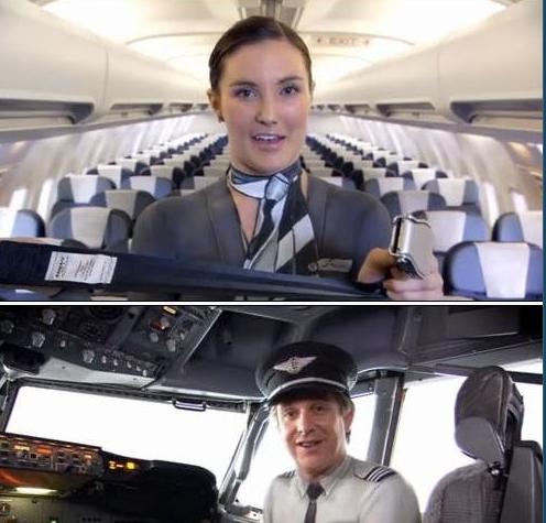 新西兰航空机长空姐全裸拍广告 网上大热