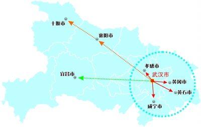 武汉至西安,北京至九龙快速铁路