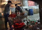 汉口作坊日产数千斤问题鸭血混杂粪便