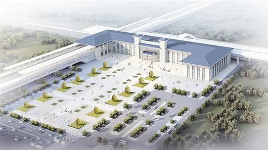 鄂州新火车站图示