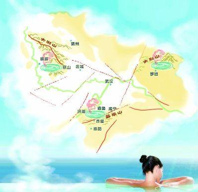 武汉周边温泉分布图