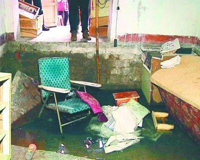 上图为出现塌陷的房间。