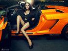 武汉超人气嫩模曹阳性感演绎美女与豪车