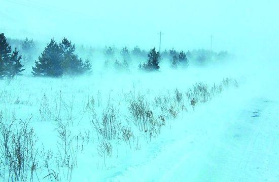 河北坝上现-40℃极寒天气
