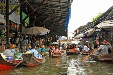 曼谷的漂浮市场