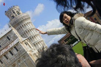 意大利的比萨斜塔