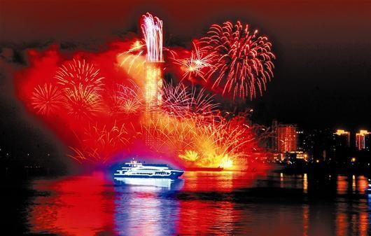 江畔盛开火树三镇笑迎新年
