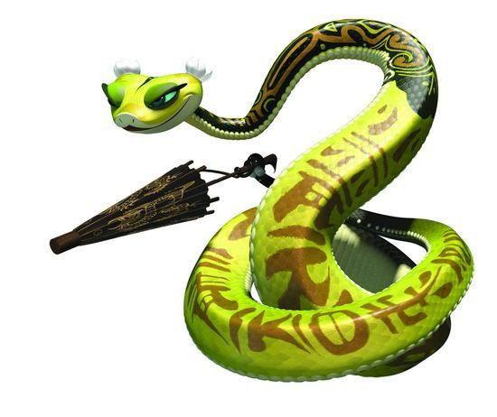 皇蛇兽_蛇年看动漫--《功夫熊猫》盖世五侠俏小龙_新
