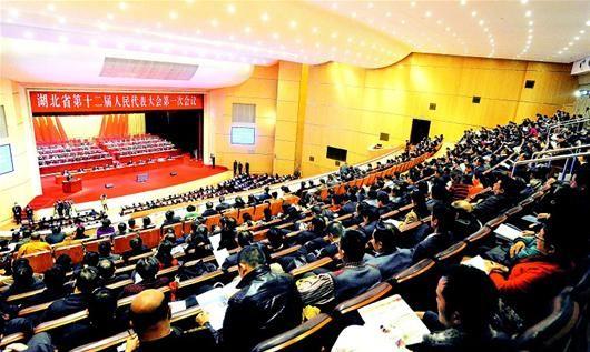 湖北日报讯 图为:大会会场。(记者 杨平 摄)