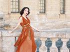 肉蒲团女星蓝燕巴黎迷人复古写真 展烈焰红唇