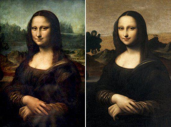 画作《艾尔沃斯·蒙娜丽莎》(右)被认为是年轻版《蒙娜丽莎》。