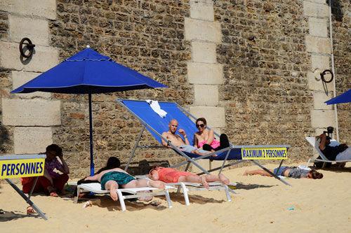 巴黎沙滩的日光浴