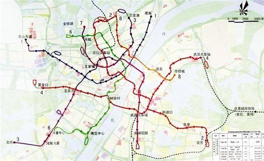 武汉市轨道交通建设规划(2010—2017)