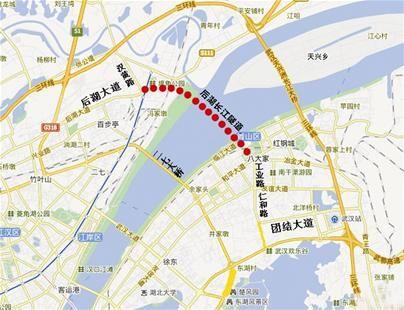 图为:后湖长江隧道方位示意图(制图:梅丹)