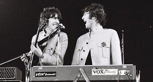 披头士乐队1965年纽约谢伊体育场演唱会珍贵照片