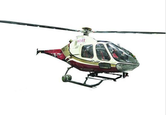 图为:组装完毕的直升机