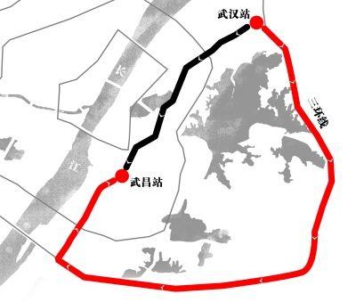 乘客被绕行三环线示意图(红线) 制图/职文胜