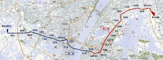武汉地铁4号线走向示意图