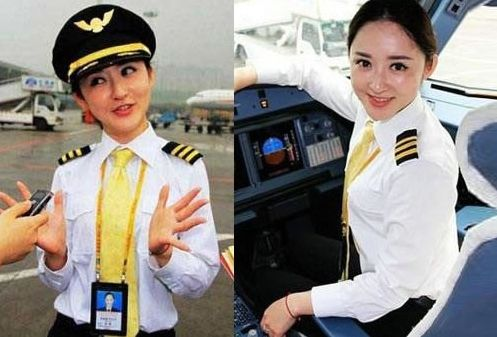 爆红网络的各行时尚美女 女飞行员被赞最美