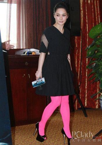 阿娇丝袜儿童显腿粗的诗情趣粉色图片